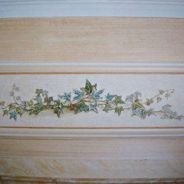 Décor peint - Patine - Faux marbres - Filets et Frise décorative (gouache et huile) année 92