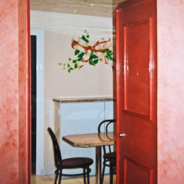 Décor fantaisie - palier et cuisine - maison B.Daugert - année 93