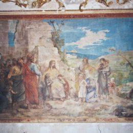 Restauration d'une fresque au château d'Asnières - APRES