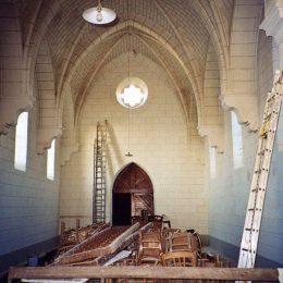 Trompe l'oeil fausse pierre dans une église - Ile de groix - Bretagne